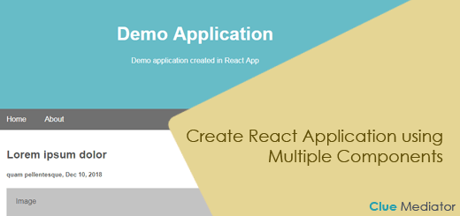 Create React Application using Multiple Components - Clue Mediator