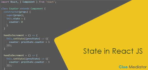 State in React JS - Clue Mediator