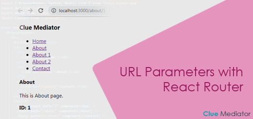 URL Parameters with React Router - Clue Mediator