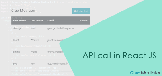 API call in React JS - Clue Mediator