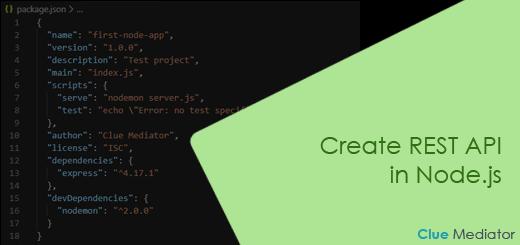 Create REST API in Node.js - Clue Mediator