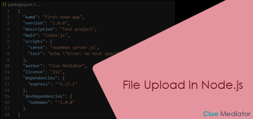 File upload in Node.js - Clue Mediator