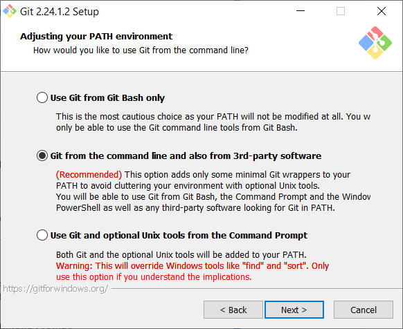 Adjust path - How to install Git in Windows - Clue Mediator