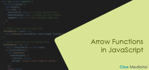 Arrow Functions in JavaScript - Clue Mediator