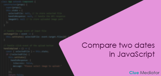 Compare two dates in JavaScript - Clue Mediator