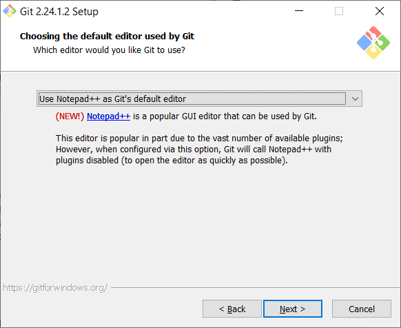 Choose Editor - How to install Git in Windows - Clue Mediator