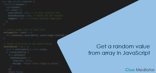 Get a random value from array in JavaScript - Clue Mediator
