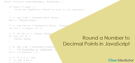 Round a Number to Decimal Points in JavaScript - Clue Mediator