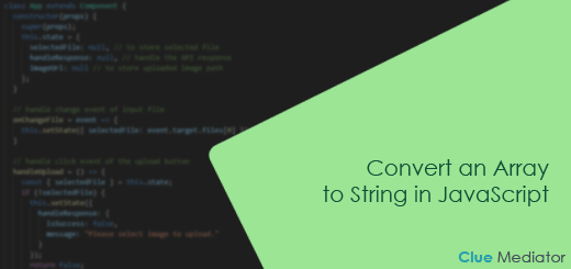 Convert an Array to String in JavaScript - Clue Mediator