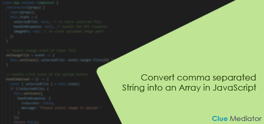 Convert comma separated String into an Array in JavaScript - Clue Mediator