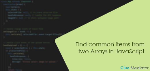 Find common items from two Arrays in JavaScript - Clue Mediator