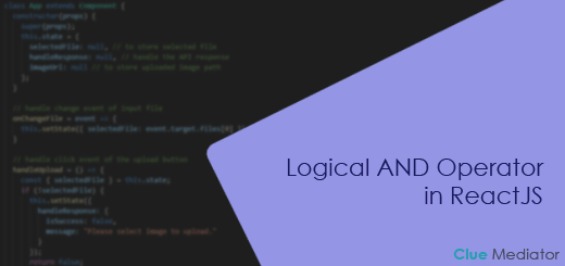 Logical AND Operator in ReactJS - Clue Mediator