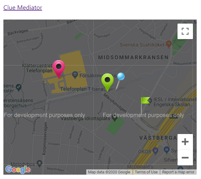Output - Add Multiple Custom Markers to Google Maps in ReactJS - Clue Mediator