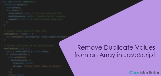 Remove Duplicate Values from an Array in JavaScript - Clue Mediator