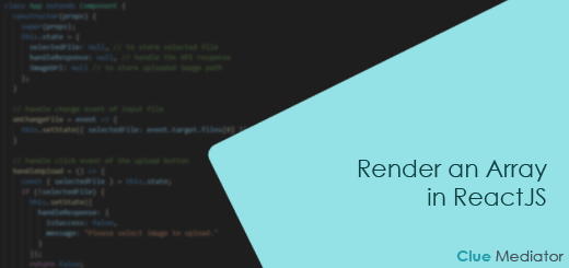Render an Array in ReactJS - Clue Mediator