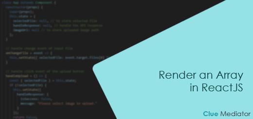 Render an Array in ReactJS - Clue Mediator