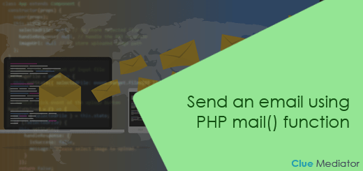 Send an email using PHP mail() function - Clue Mediator