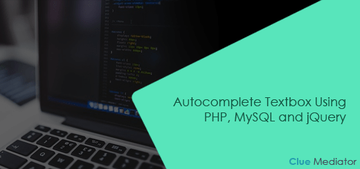 Autocomplete Textbox Using PHP, MySQL and jQuery - Clue Mediator