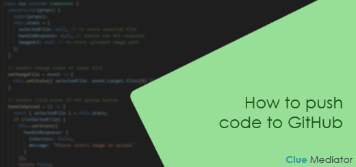 How to push code to GitHub - Clue Mediator