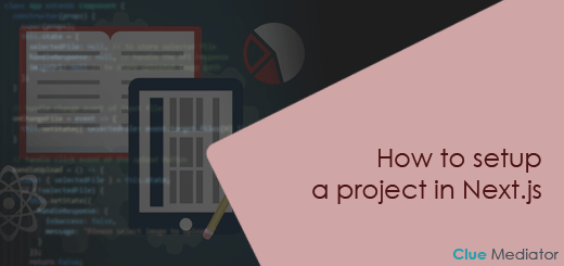 How to setup a project in Next.js - Clue Mediator