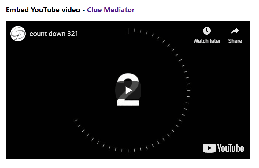 Output - Embed YouTube video in ReactJS - Clue Mediator