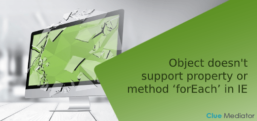 Object doesn't support property or method 'forEach' in IE - Clue Mediator