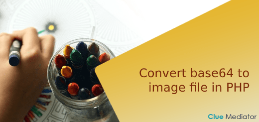 Convert base64 to image file in PHP - Clue Mediator