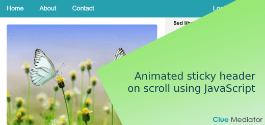 Animated sticky header on scroll using JavaScript - Clue Mediator
