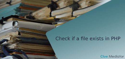 Check if a file exists in PHP - Clue Mediator