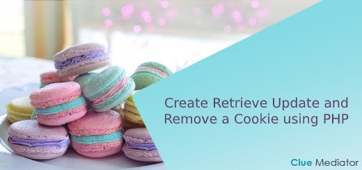 Create Retrieve Update and Remove a Cookie using PHP - Clue Mediator