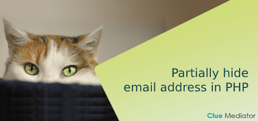 Partially hide email address in PHP - Clue Mediator