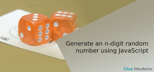 Generate an n-digit random number using JavaScript - Clue Mediator