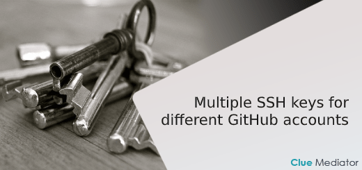 Multiple SSH keys for different GitHub accounts - Clue Mediator