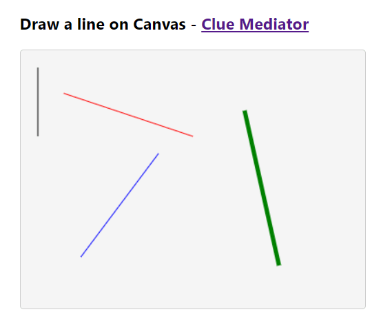 Output - Draw a line on Canvas using React - Clue Mediator