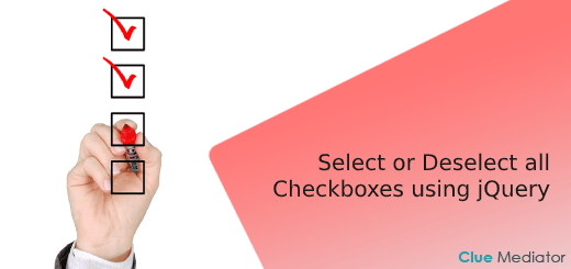 Select or Deselect all Checkboxes using jQuery - Clue Mediator