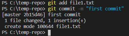git add - git commit - Clue Mediator