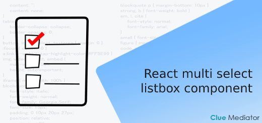 React multi select listbox component - Clue Mediator