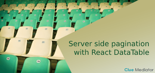 Server side pagination with React DataTable - Clue Mediator