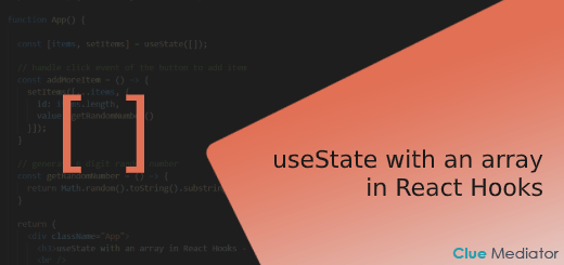 useState with an array in React Hooks - Clue Mediator