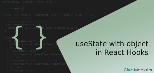 useState with object in React Hooks - Clue Mediator