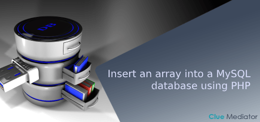 Insert an array into a MySQL database using PHP - Clue Mediator