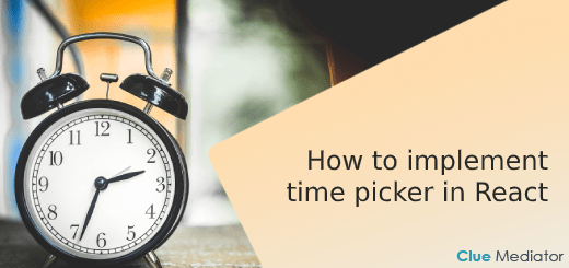 React time picker - Clue Mediator