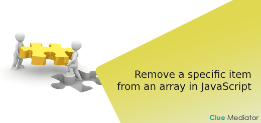 Remove a specific item from an array in JavaScript - Clue Mediator