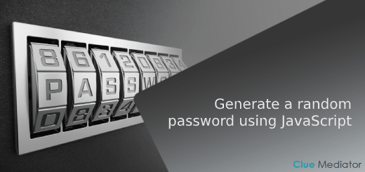 Generate a random password using JavaScript - Clue Mediator