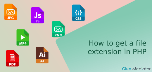 How to get a file extension in PHP - Clue Mediator