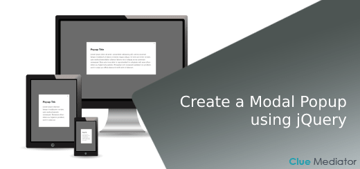 Create a Modal Popup using jQuery - Clue Mediator