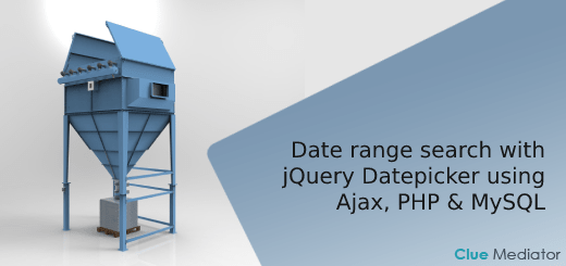 Date range search with jQuery Datepicker using Ajax, PHP & MySQL - Clue Mediator