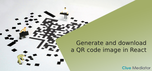 Generate and download a QR code image in React - Clue Mediator