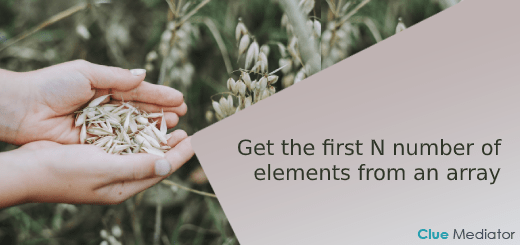 Get the first N number of elements from an array in JavaScript - Clue Mediator