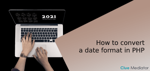 How to convert a date format in PHP - Clue Mediator